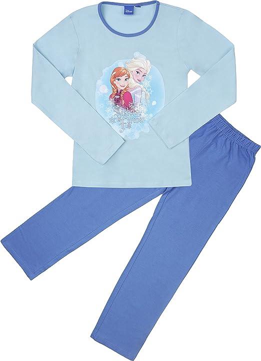 Frozen Pijama Algodón para Niñas EP2009 (Turquesa/Azul (2009), 8 ...