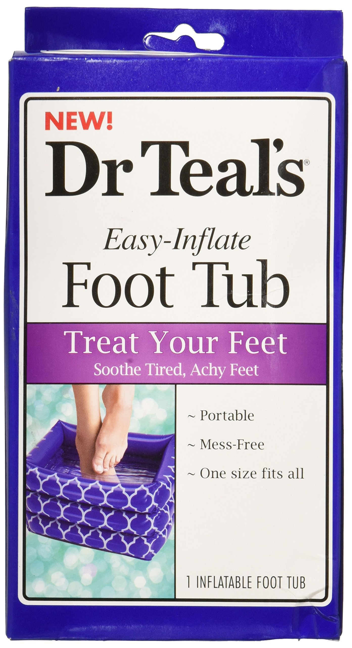 Amazon.com: Dr. Teal\'s Inflatable Foot Tub: Health & Personal Care