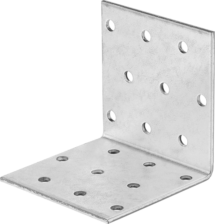Winkelverbinder 50 mm x 50 mm x 35 mm Verzinkt 20 St/ück Witterungsbest/ändiger Winkel aus Stahl