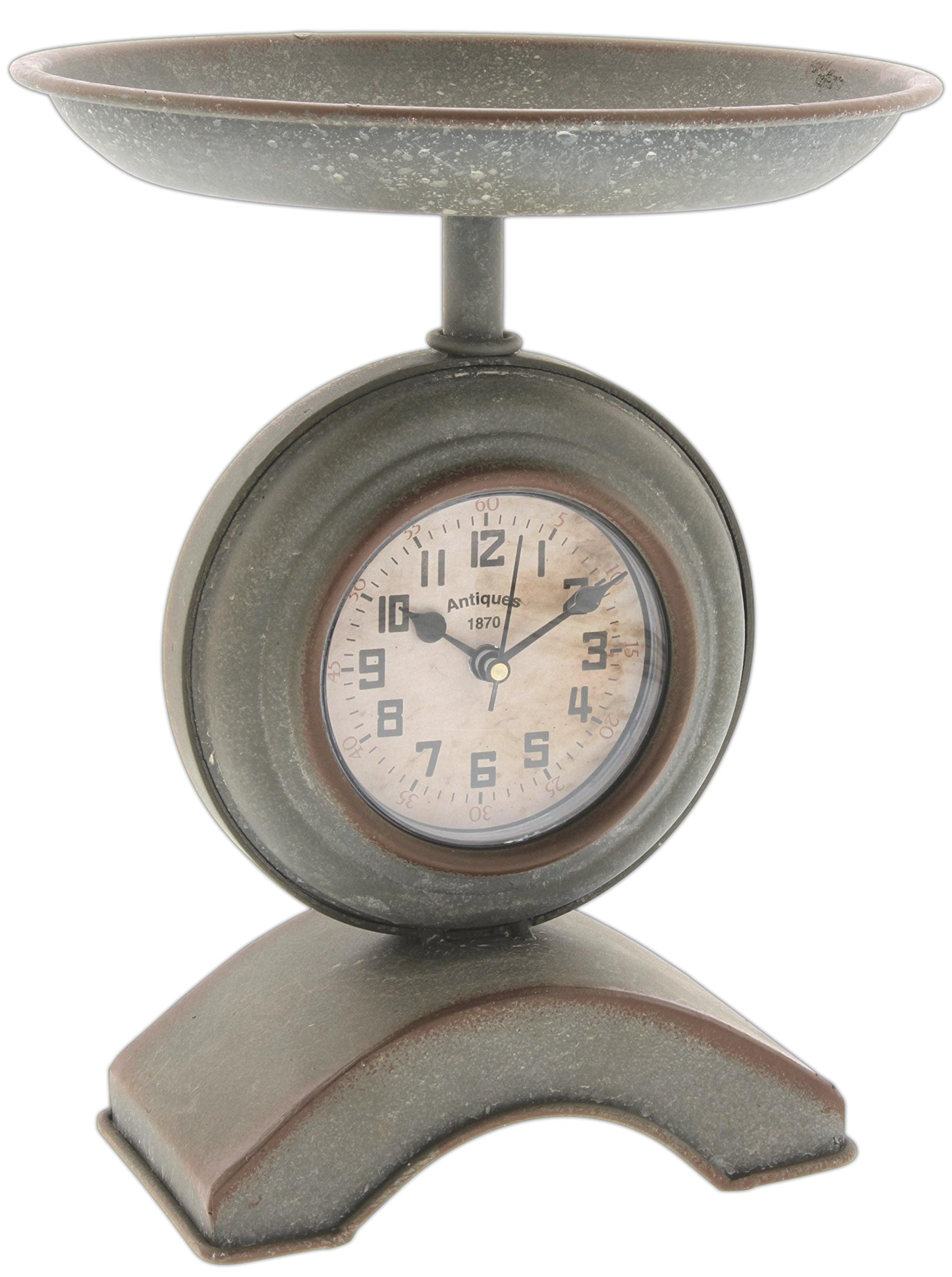 Park Hill Antique Style Kitchen Scale Table Clock -  - clocks, bedroom-decor, bedroom - 81rmhp7 LQL -