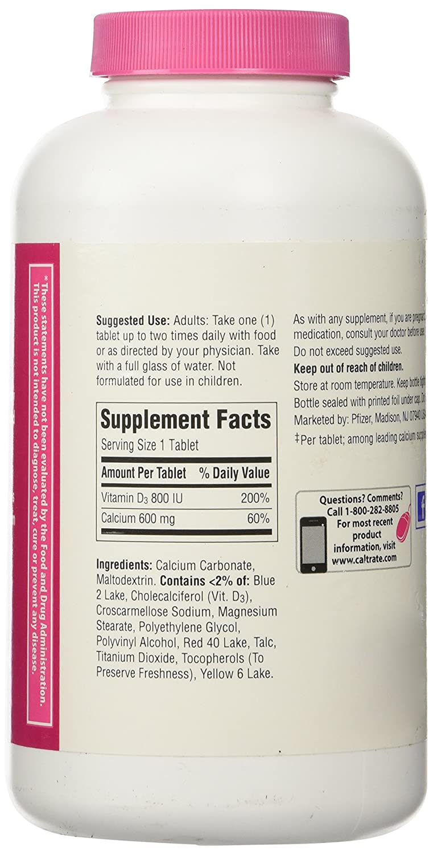 Amazon.com: Caltrate 600 + D3 Calcium & Vitamin D3 Supplement, 320 Tablets: Health & Personal Care