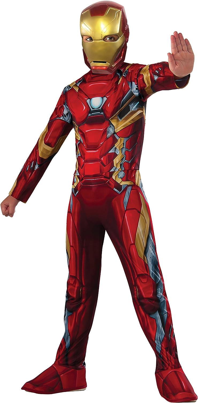 IRONMAN- Iron Man Classic Civil War Disfraz para niños, M (Rubies ...