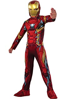Amazon.com: Rubies Costume Iron Man Avengers Endgame Child ...