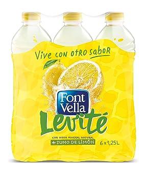 Font Vella Levité Agua Mineral con Zumo de Limón - Paquete de 6 x 1250 ml - Total 7200 ml: Amazon.es: Amazon Pantry