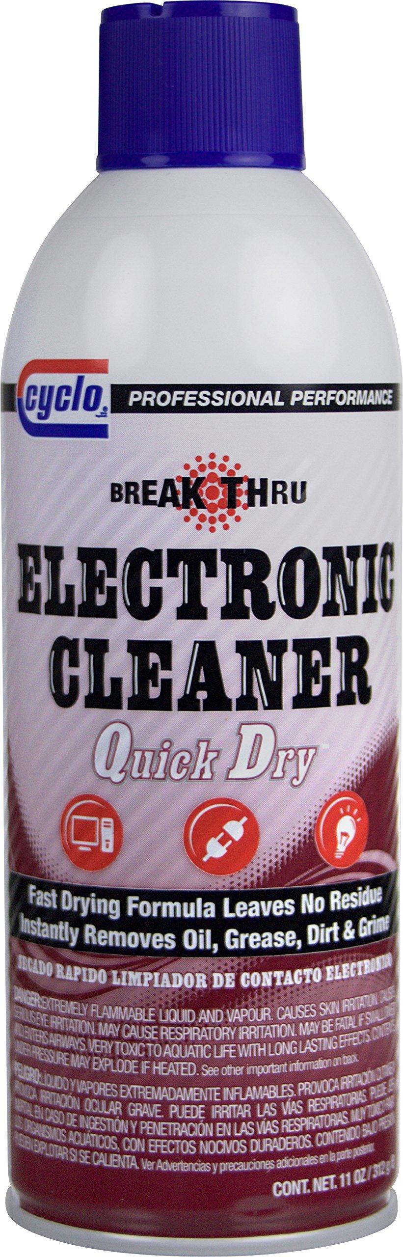 Niteo Cyclo Break Thru Electronic Cleaner, Quick Dry Formula, 11 fl oz, Case of 12