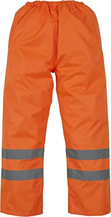 Yoko Hi-Vis Mens Waterproof Overtrousers HVS461 Safety Workwear Polyester Pants