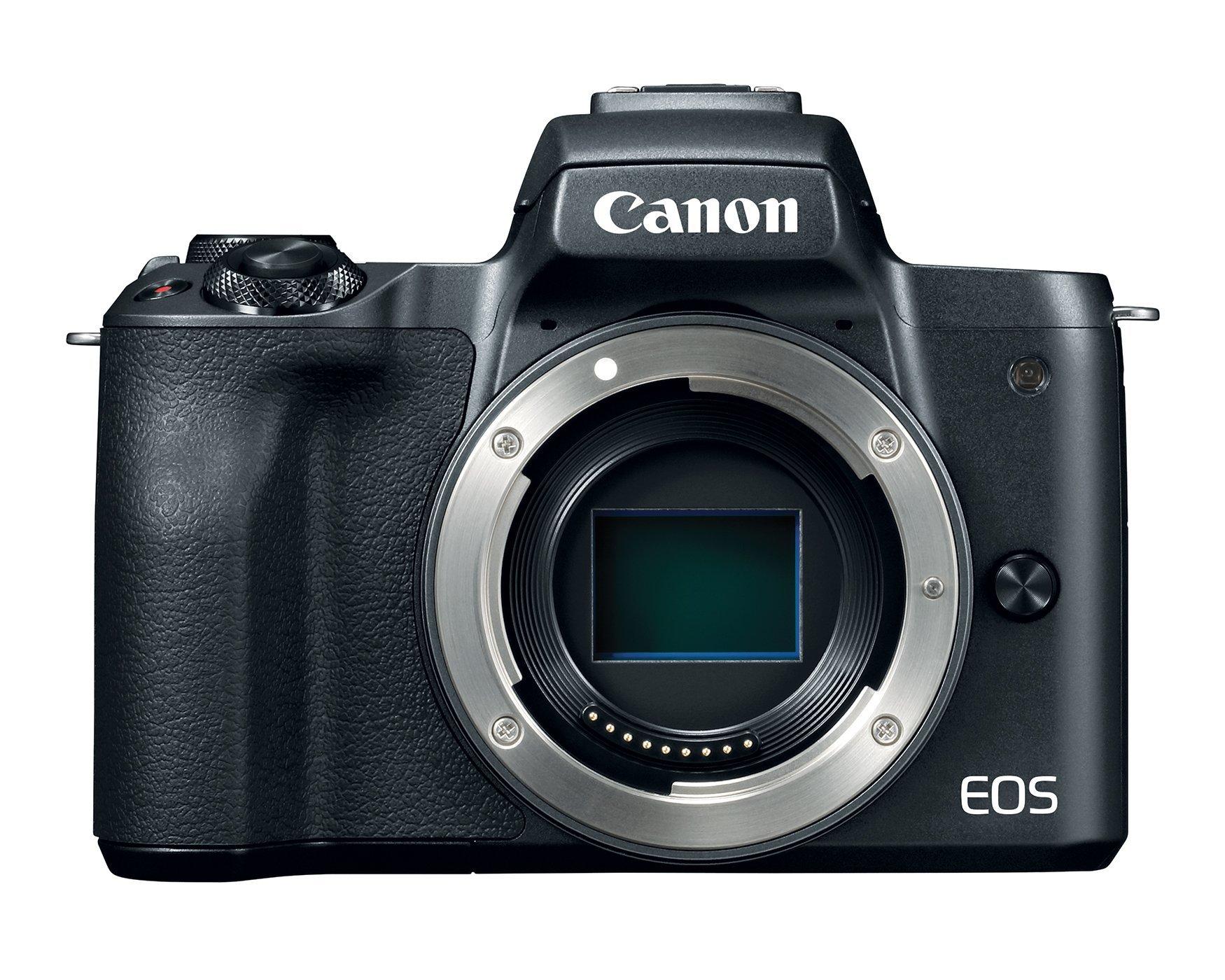Canon Mirrorless Camera Body [EOS M50] with 4K Video, 24.1 Megapixel (APS-C) CMOS Sensor - Black (Renewed)