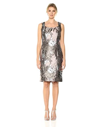 f439b929ff4 Kasper Women s Petal Printed Sheath Dress at Amazon Women s Clothing ...