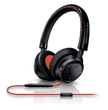Philips M1MKIIBO/00 - Auriculares de diadema cerrados (binaurale, alámbrico, 150 mW), color negro y rojo: Amazon.es: Electrónica