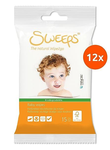 Sweeps Toallitas para Bebé - 12 x 15 (180 toallitas)