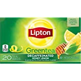 Lipton Green Tea, Decaf Honey Lemon, Tea Bag 20 Count Box