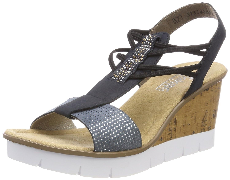 Rieker Rabea 82 Women's Sandal B075CQWHWK 39 M EU|Bleu