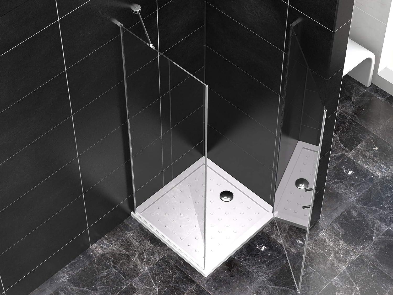 Duschkabine 100x100x190 cm ohne Duschtasse 6mm Glas GRANDE Quadratisch