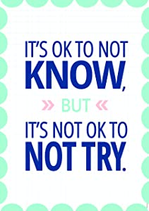Creative Teaching Press It's OK to not know… Calm & Cool Inspire U Poster, CTP 8715