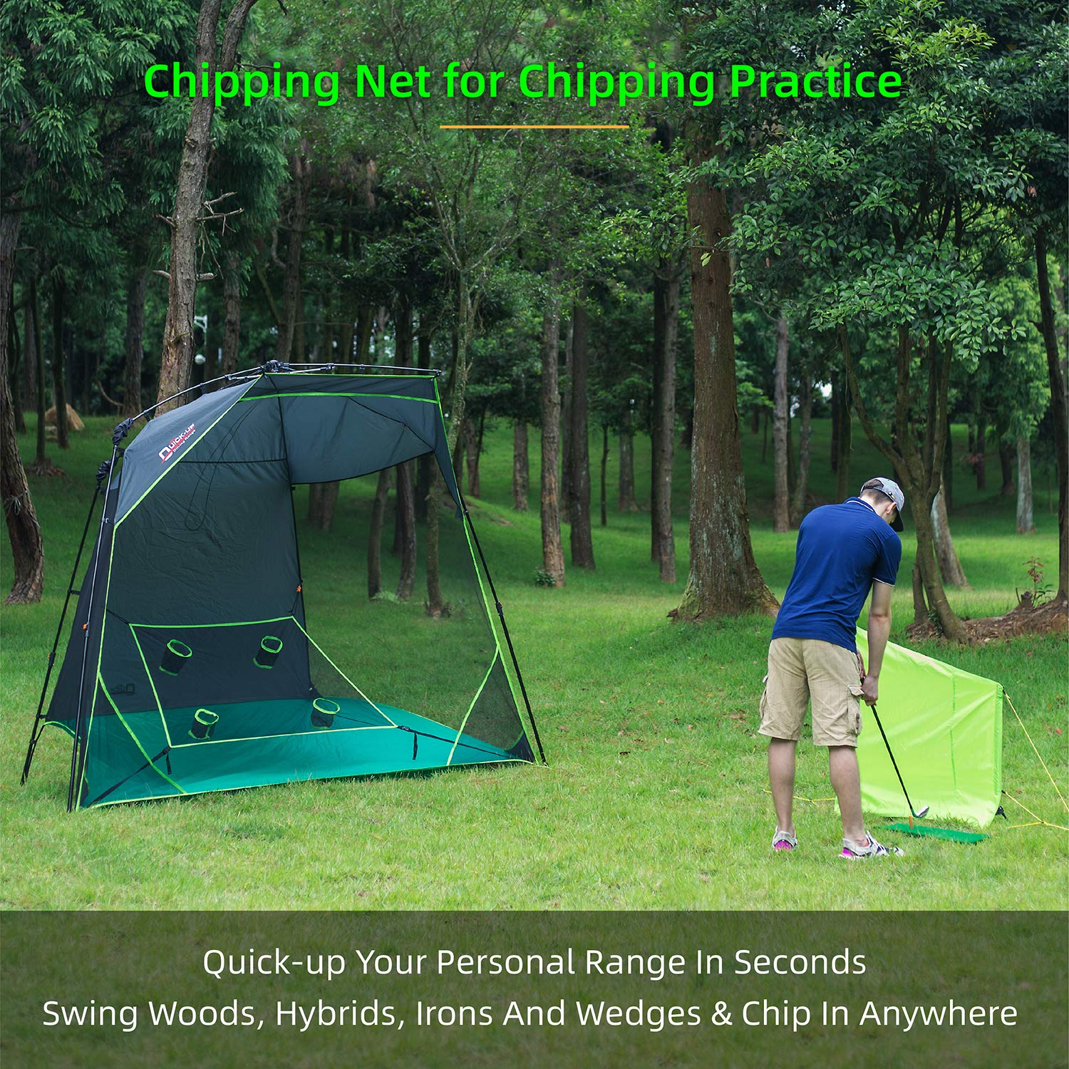 Buy Quick Up Golf Practice Net Tents Hitting Chipping Nets Easy Set Up For High Shot Swing Wedges All In One Golf Training Aids For Testing Portable Driving Range For Indoor Outdoor 10 X 7 Ft