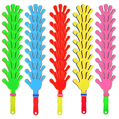 Sunshane 40 Pieces Plastic Hand Clappers Noise Makers Noisemaker Game Accessories for Fiesta Party Birthday Favors and Supplies, 7.5 Inch: Toys & Games