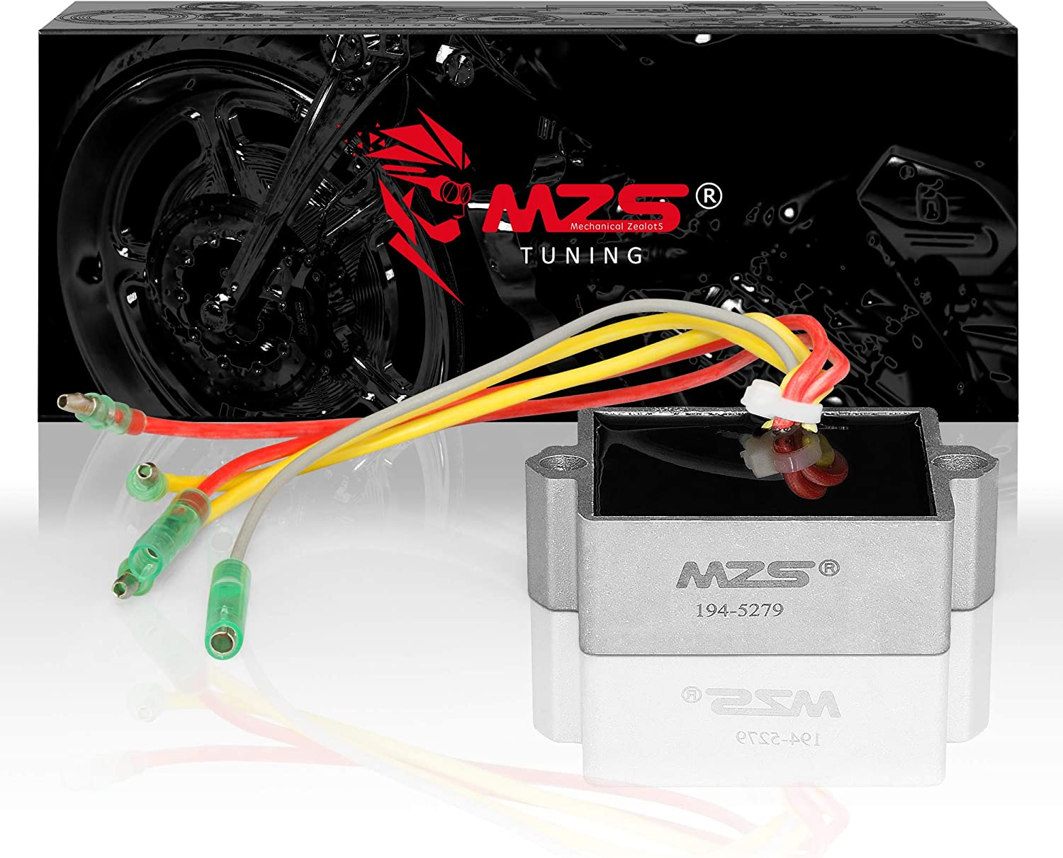 MZS 194-5279 Regulator Rectifier Voltage Compatible with Mercury Mariner Outboard 5 Wires 25 to 250 HP Replace 815279-1 815279-2 815279-3 815279-4 815279-5 65W-81960-00-00 65W-81960-10-00