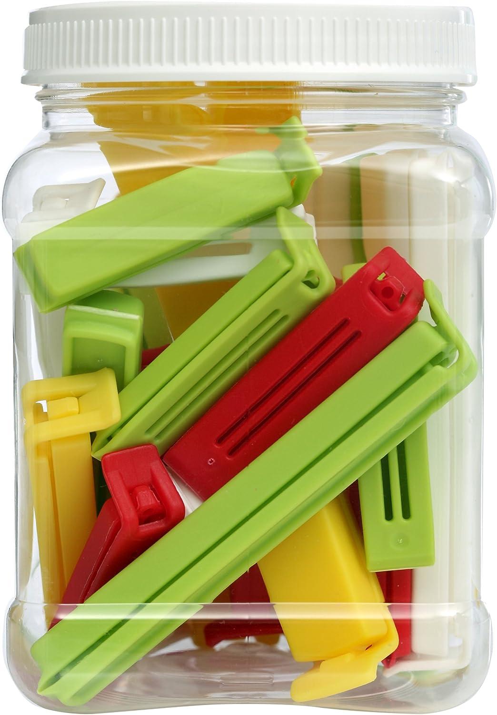 Linden Sweden Twixit! Bag Clips - Set of 26 - Keep Food Fresh, Prevent Spillage - Great for Storage and Organization - Microwave, Freezer and Dishwasher-Safe - BPA-Free