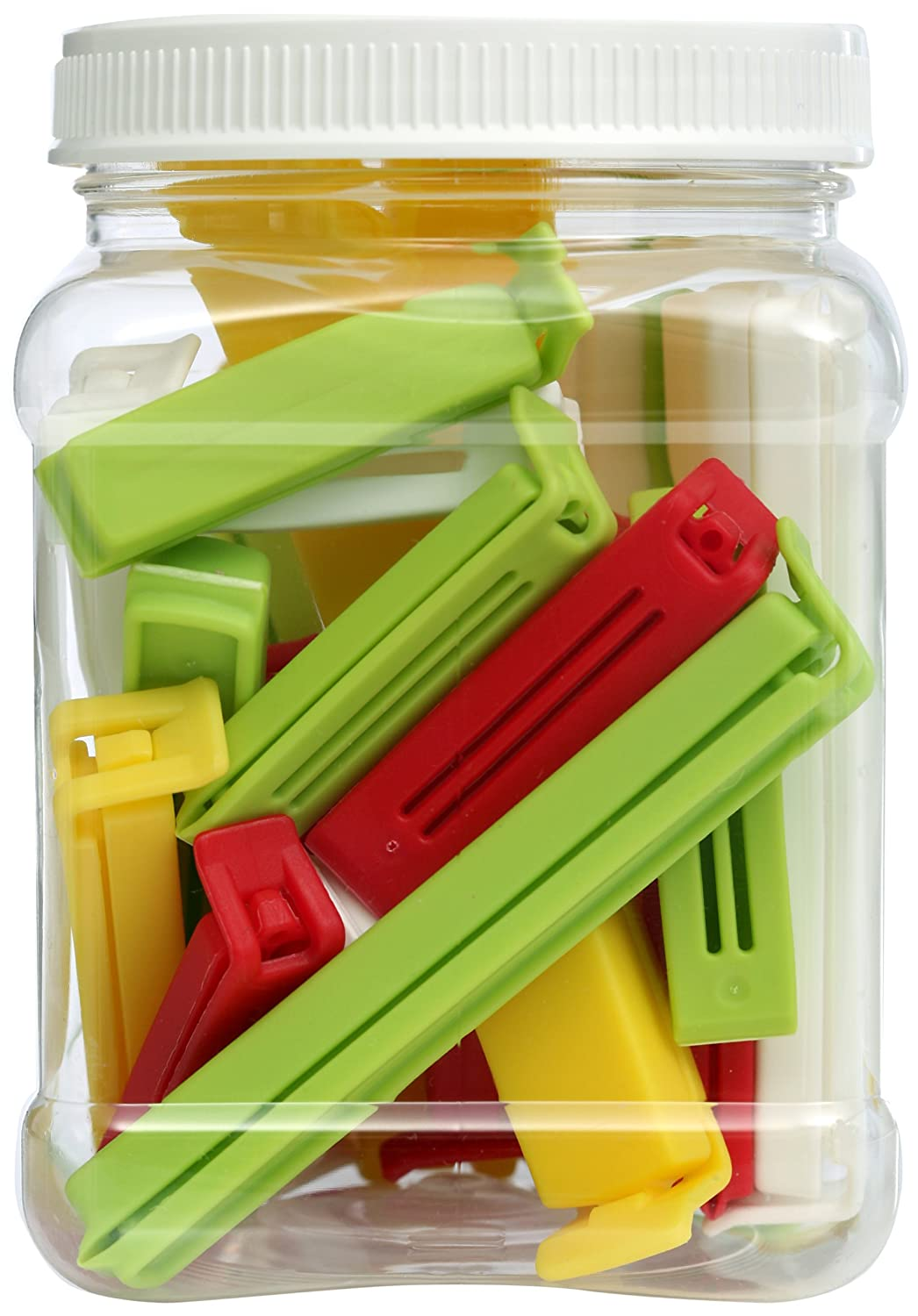 Twixit! Linden Sweden Bag Clips, White/Yellow/Red/Lime, Set of 2 Super 6 Large 8 Medium and 10 Small INC 26810JAZ