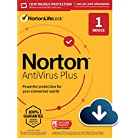 """Norton AntiVirus Plus €"""" Antivirus software for 1 Device with Auto-Renewal - Includes Password Manager, Smart Firewall and PC Cloud Backup [Download]"""