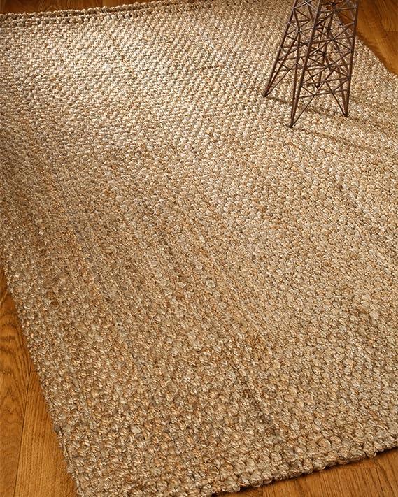 Amazon.com: Mano de hilado de yute alfombra Panama 6 x 4 ...