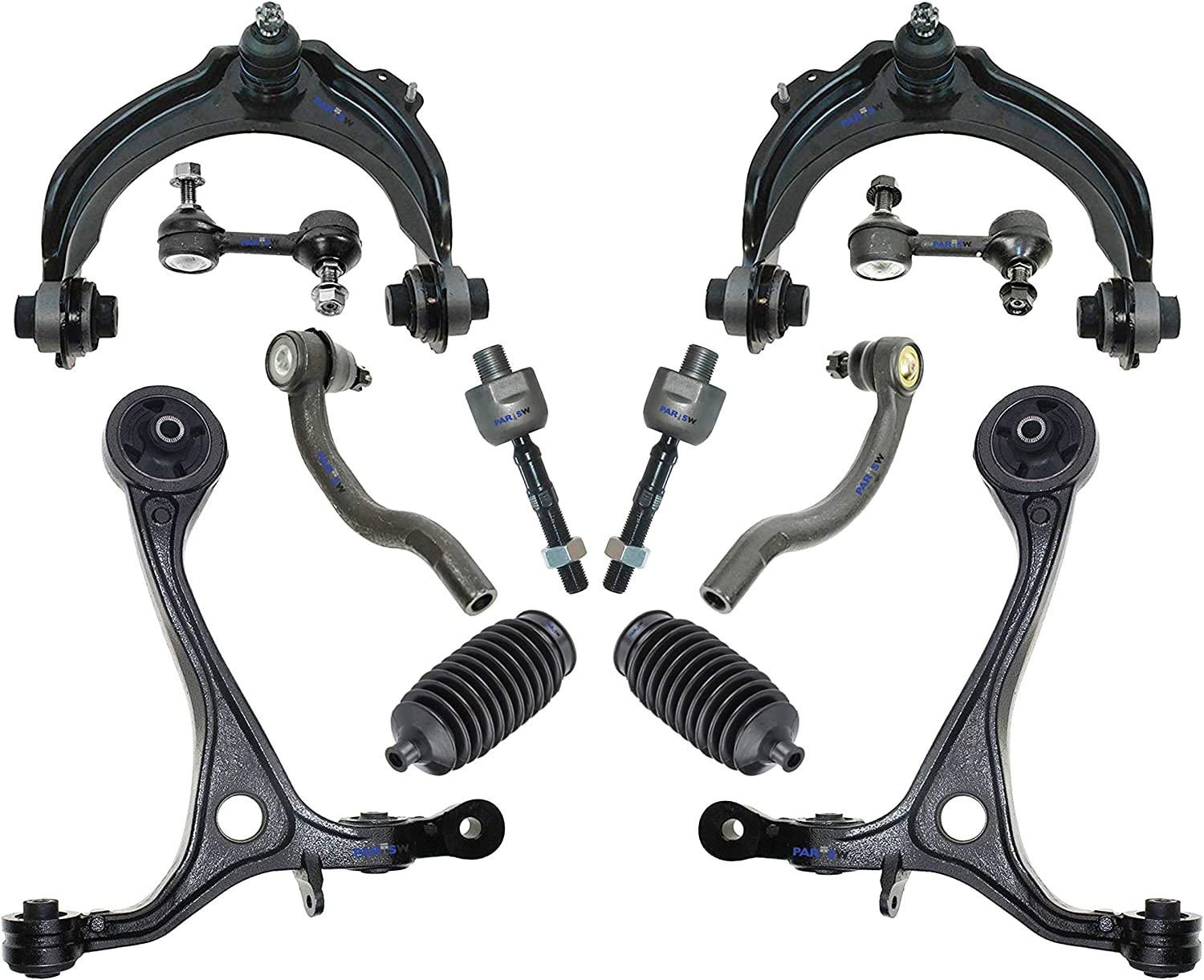Complete 12pc Front Suspension Kit Control Arm for Honda Accord 3.0L Coupe Sedan
