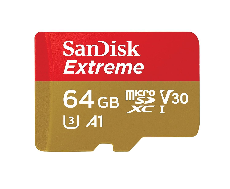 Tarjeta de memoria SanDisk Extreme 64 GB microSDXC para cámaras...