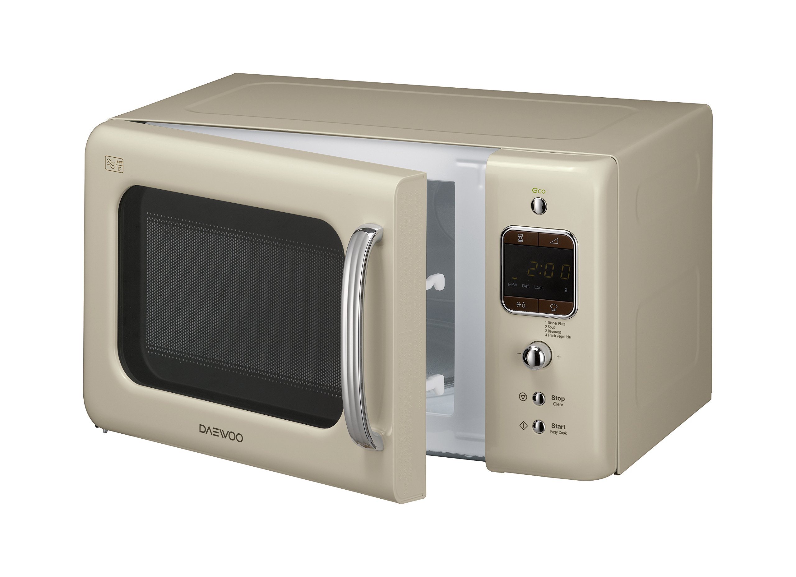 Daewoo Kor7lbkc Retro Style Microwave Oven 20 L 800 W