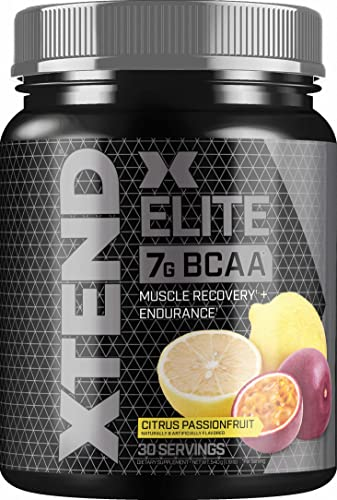 Scivation XTEND Elite BCAA Powder Citrus Passionfruit Sugar Free Post Workout Muscle Recovery Drink