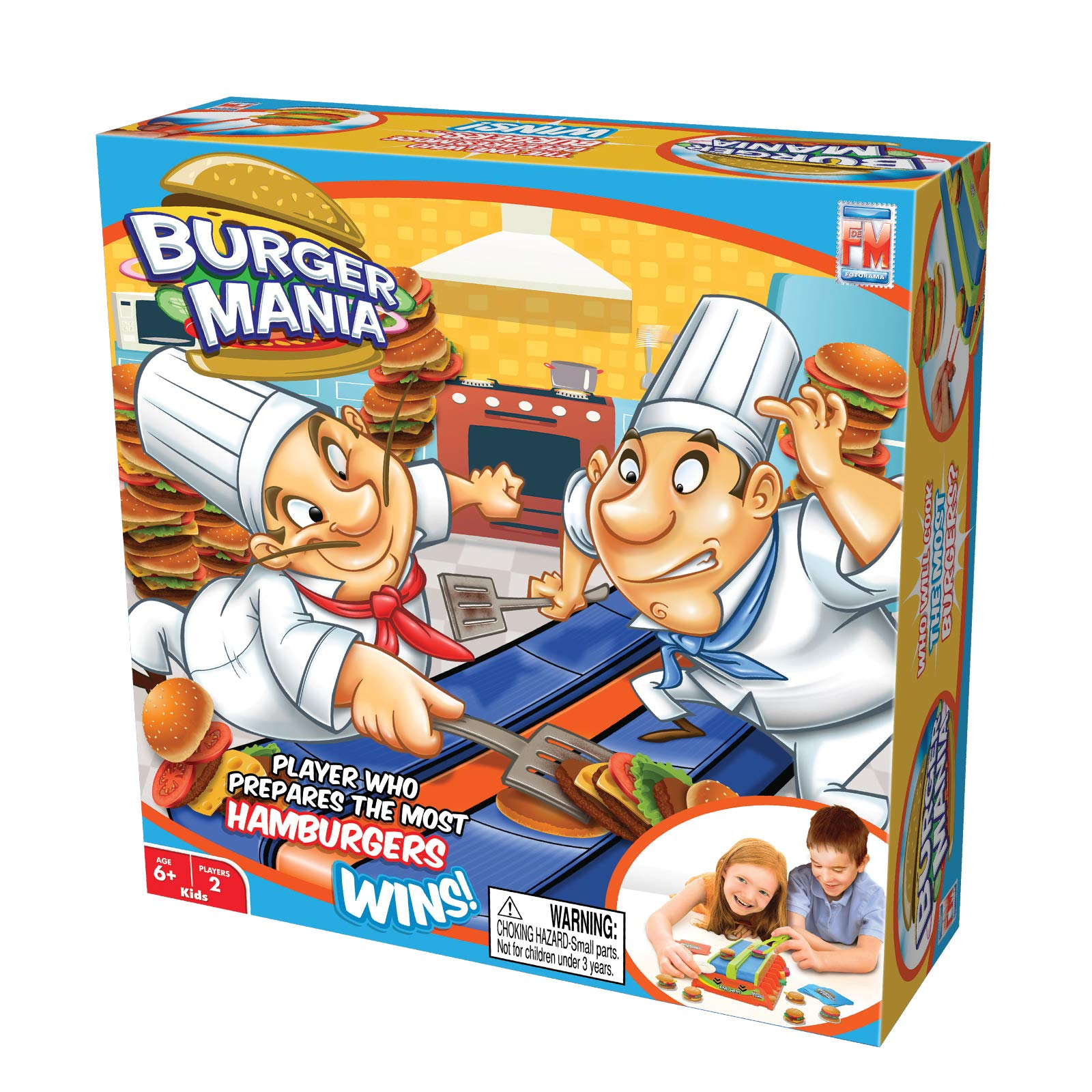 Fotorama Burger Mania Game Fast Pace Build a Burger Conveyor Fast Food Time Game Thrill Competition by Fotorama