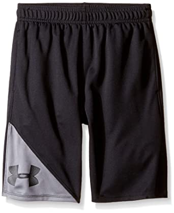 Under Armour Boys Size 5 Shorts Black And Gray Bottoms