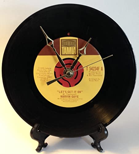Record Clock – Recycled MARVIN GAYE 7 Record – Song Let s Get It On