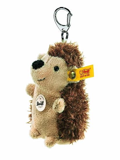 Steiff 112164 - Llavero de erizo de peluche, color marrón y ...