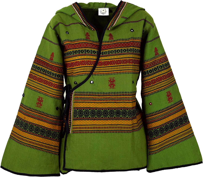 Giacche e Gilet Boho Giacca Hippie GURU-SHOP Sintetico Giacca Psytrance Giacca con Cappuccio Wrap Jacket Giacca Donna Giacca Boho