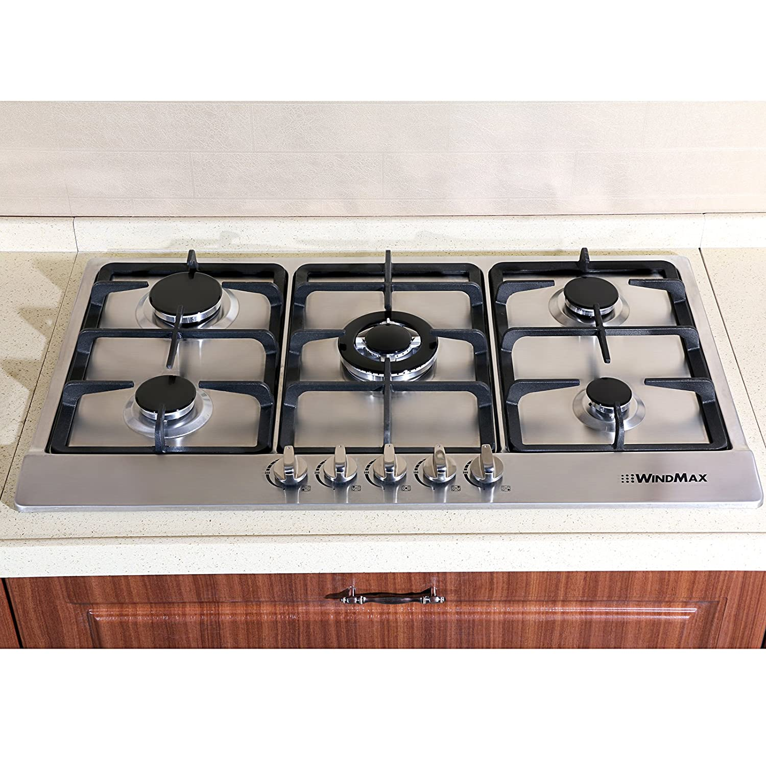 Gas Stainless Steel Cooktop Amazoncom Windmax 34 Electric Stainless Steel Built In Kitchen