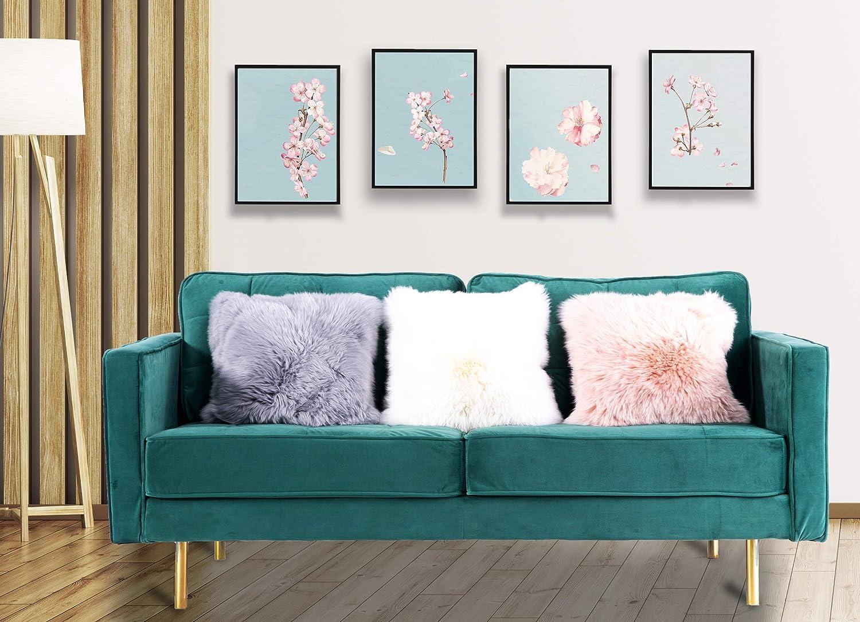 Amazon.com: Bold Tones Green Modern Velvet Tufted 3 Seat ...