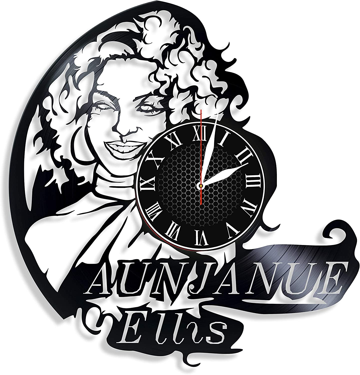 Amazon Com Aunjanue Ellis Actor Handmade Vinyl Wall Clock Get Unique Gifts Presents For Birthday Christmas Ideas For Boys Girls Men Women Adults Him And Her Sport Unique Design Home