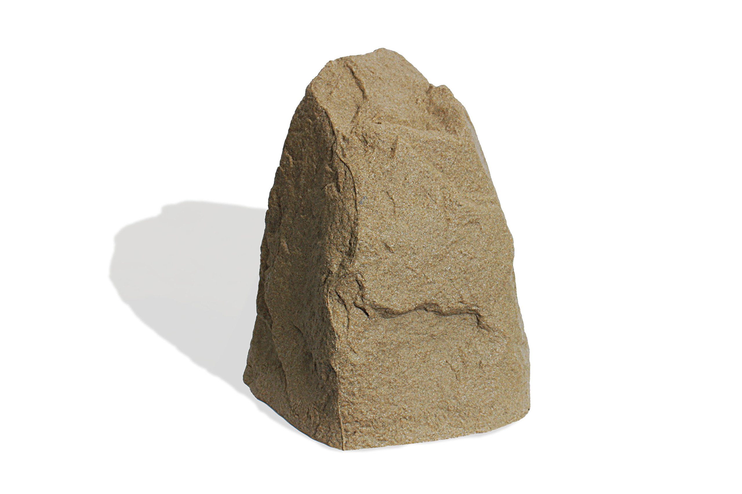 Algreen Products Receptacle Poly Rock Cover and Decorative Garden Accent, 21.5 x 18 x 16-Inch, Sandstone