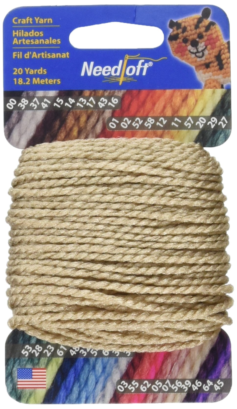 Cottage Mills Needloft Craft Yarn 20 Yards-Sandstone