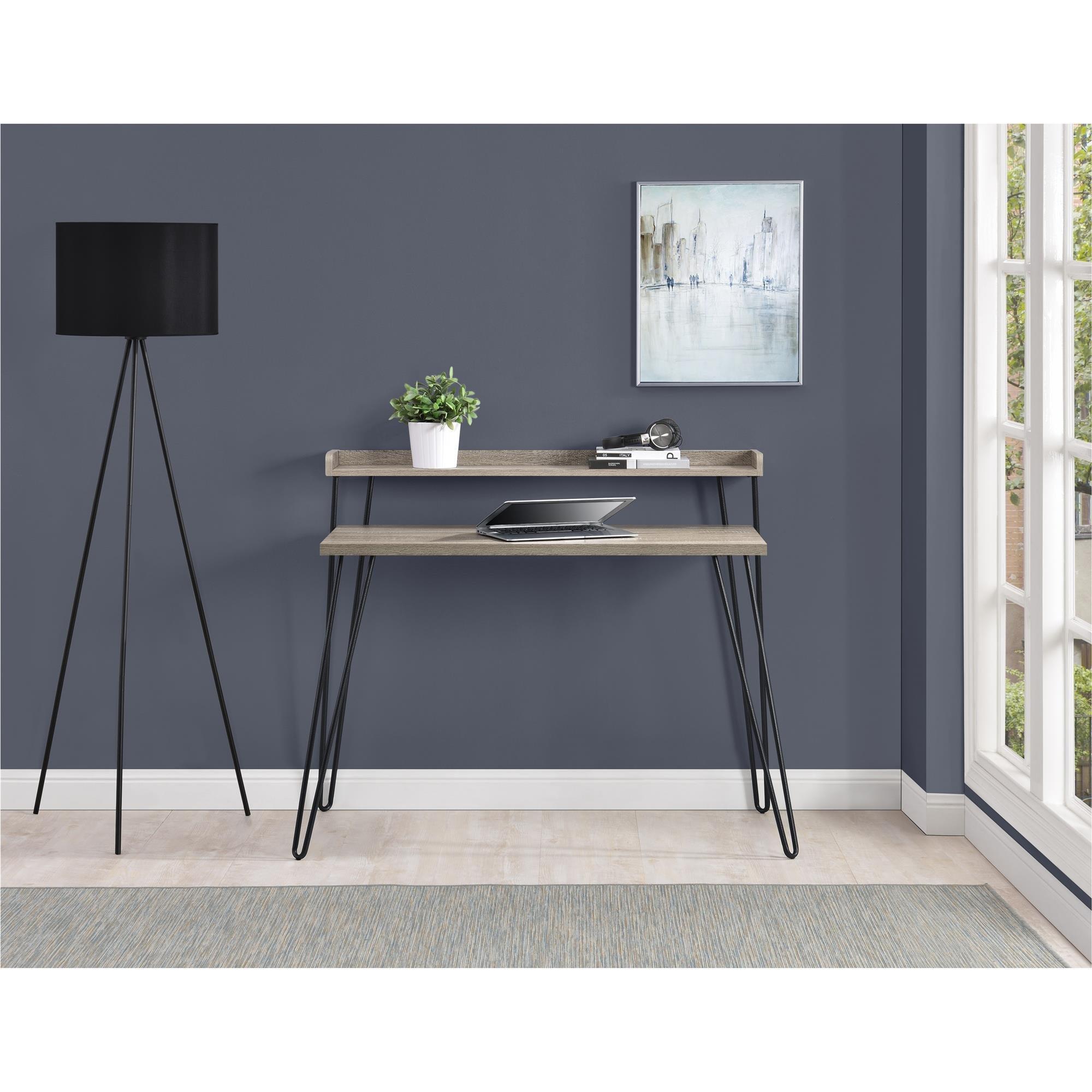 Ameriwood Home Haven Retro Desk Riser, Weathered Oak by Ameriwood Home (Image #4)