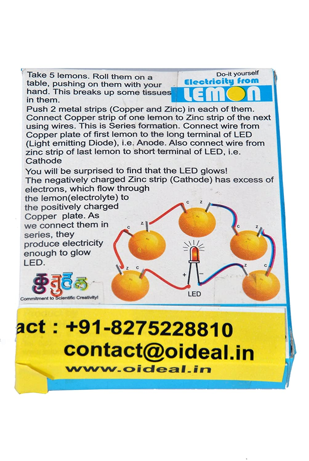 Buy Electricity From Lemon Battery Kit Do It Yourself Working Diagram Vegetable Model Online At Low Prices In India