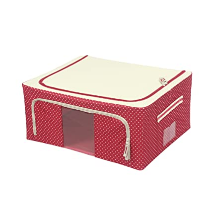 Delicieux Maggift Oxford Cloth Storage Box 1 Pack,Clothing Storage Containers (44L,  Red)