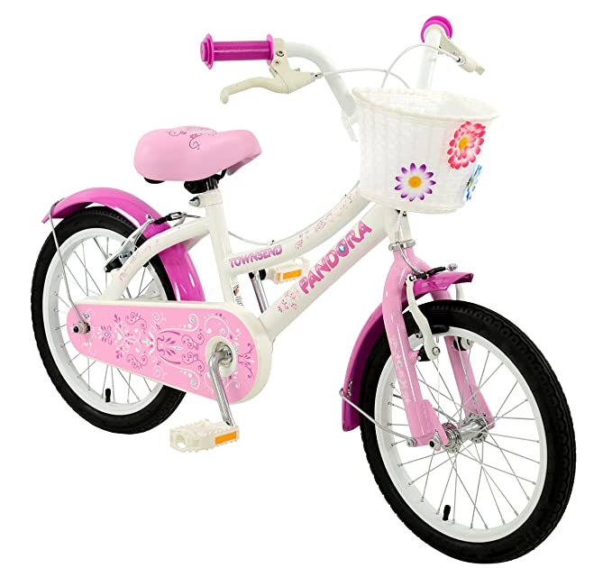 546db038f60 Townsend Girl Pandora Cruiser Bike, Multi-Colour, 16-Inch: Amazon.co.uk:  Sports & Outdoors