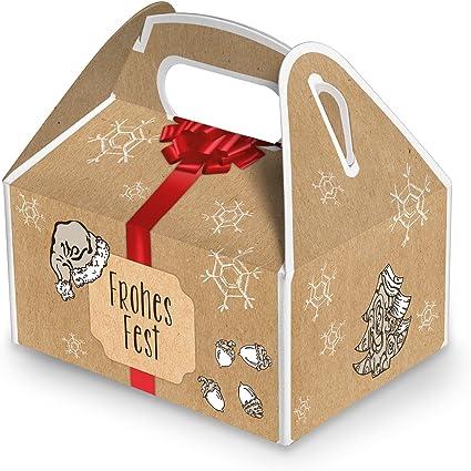 10 Cajas Pequeñas Navidad Cajas de regalo rojo beige de color ...