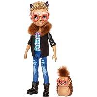 """Enchantimals Mini-poupée Hixby Hérisson et Figurine Animale Pointer, aux cheveux courts avec veste à col """"fourrure"""", jouet enfant, FJJ22"""
