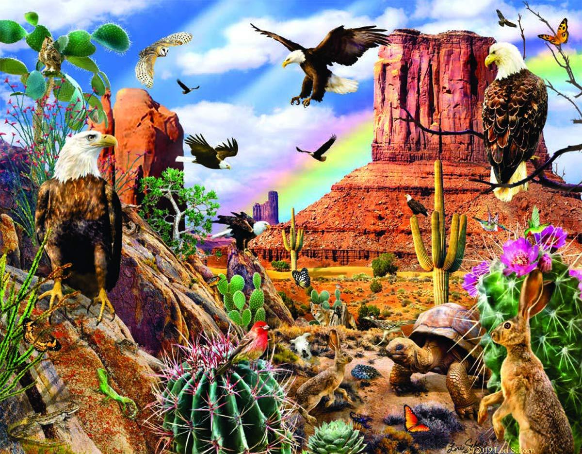 Desert Eagles 1000 pc Jigsaw Puzzle by SUNSOUT INC