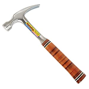 Estwing Hammer - 20 oz Straight Rip Claw with Smooth Face & Genuine Leather Grip - E20S