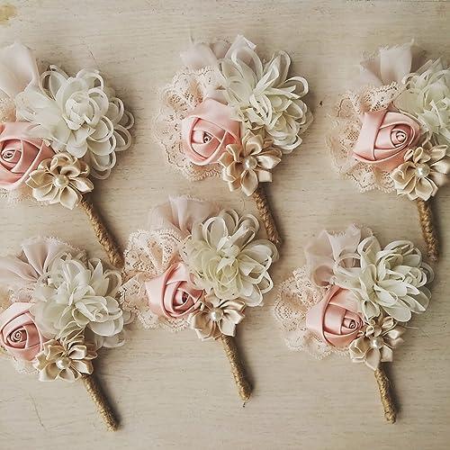 Amazon wedding boutonniere men buttonhole groom boutonniere wedding boutonniere men buttonhole groom boutonniere lapel pin lapel flower blush junglespirit Image collections
