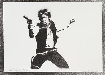 Han Solo STAR WARS Poster Handmade Graffiti Street Art - Artwork