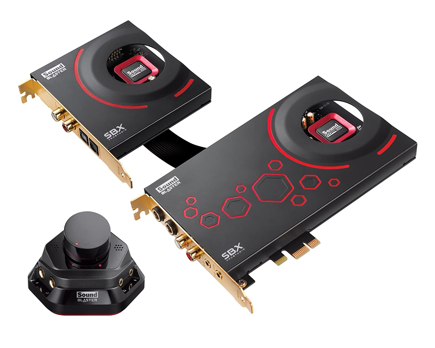 Creative Sound Blaster ZxR - Tarjeta de sonido interna (SNR 124 dB, PCI-Express, jack de 3,5 mm), color negro